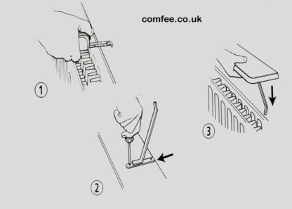 comfee radiator shelf mounting brackets
